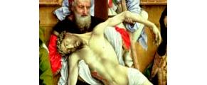 Sentados delante del sepulcro de Jesús