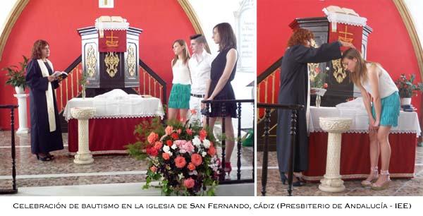 Bautismos en la Iglesia Evangélica Española en San Fernando (Cádiz)