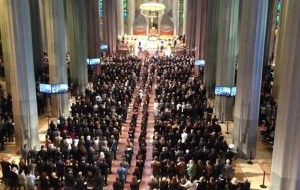 Un momento de la misa-funeral de Estado en Barcelona